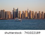 dubai skyline. dubai marina... | Shutterstock . vector #741022189