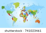 color world map | Shutterstock .eps vector #741023461