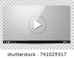 design of the video player.... | Shutterstock .eps vector #741029317