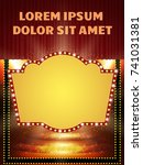 poster template banner with... | Shutterstock .eps vector #741031381