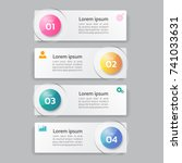 infographics template 4 options ... | Shutterstock .eps vector #741033631