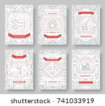 set of south africa country... | Shutterstock .eps vector #741033919