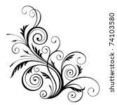 jpeg  floral design element. jpg | Shutterstock . vector #74103580
