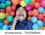 children happiness emotion in... | Shutterstock . vector #741036844