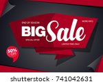 sale poster of black friday ... | Shutterstock .eps vector #741042631
