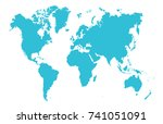 color world map | Shutterstock .eps vector #741051091