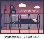 hyperloop  futuristic passenger ... | Shutterstock .eps vector #741057514