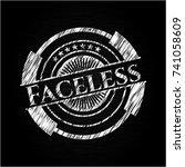 faceless written on a blackboard | Shutterstock .eps vector #741058609
