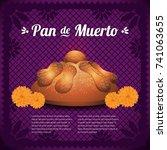pan de muerto  day of the dead... | Shutterstock .eps vector #741063655