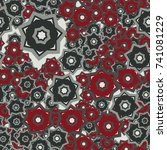 seamless pattern. color... | Shutterstock .eps vector #741081229