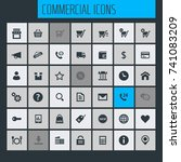 big commercial icon set | Shutterstock .eps vector #741083209