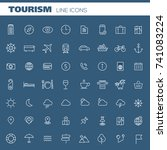 big tourism icon set | Shutterstock .eps vector #741083224
