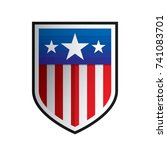 united states of america us usa ... | Shutterstock .eps vector #741083701
