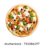 Italian Pizza With Mozzarella   ...