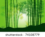 beautiful bamboo forest | Shutterstock .eps vector #74108779