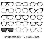 glasses model icons  man  women ... | Shutterstock .eps vector #741088525