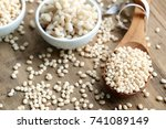 barley cooked with seeds   Shutterstock . vector #741089149