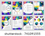 abstract vector layout... | Shutterstock .eps vector #741091555