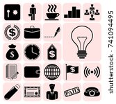 set of 22 business icons.... | Shutterstock .eps vector #741094495
