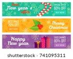 best new year's offer christmas ... | Shutterstock .eps vector #741095311