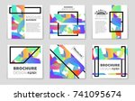 abstract vector layout... | Shutterstock .eps vector #741095674