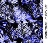 watercolor seamless pattern...   Shutterstock . vector #741097729