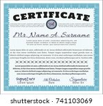 light blue classic certificate
