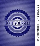 do it yourself emblem with... | Shutterstock .eps vector #741103711