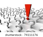 it is a lot of question marks... | Shutterstock . vector #74111176