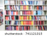 Blurred Of Books In The...