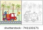 vector cartoon illustration of... | Shutterstock .eps vector #741133171