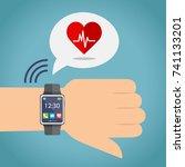sport lifestyle health... | Shutterstock .eps vector #741133201