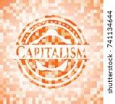 capitalism abstract orange... | Shutterstock .eps vector #741134644