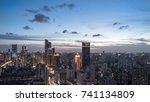 shanghai skyscrapers... | Shutterstock . vector #741134809