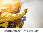 close up action of two... | Shutterstock . vector #741141289