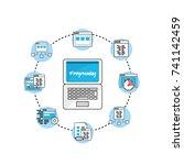 set webside code programmer... | Shutterstock .eps vector #741142459