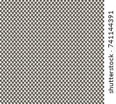 monochrome textile pattern... | Shutterstock .eps vector #741144391