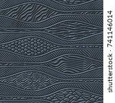 metal seamless texture with... | Shutterstock . vector #741146014