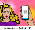beautiful sexy girl long blonde ... | Shutterstock . vector #741146245
