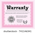 pink retro warranty certificate ... | Shutterstock .eps vector #741146341