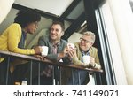 diverse business shoot  | Shutterstock . vector #741149071