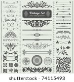 vector set  calligraphic design ... | Shutterstock .eps vector #74115493