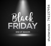 black friday banner with light. ...   Shutterstock .eps vector #741157954