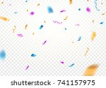 confetti background vector... | Shutterstock .eps vector #741157975