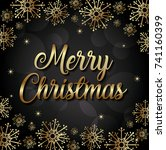 merry christmas design | Shutterstock .eps vector #741160399