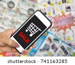 online shopping and e commerce... | Shutterstock . vector #741163285