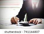 close up business man using...   Shutterstock . vector #741166807