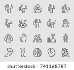 people working and health... | Shutterstock .eps vector #741168787