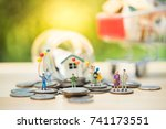 miniature people  family and... | Shutterstock . vector #741173551