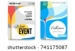 template for cocktail party ... | Shutterstock .eps vector #741175087